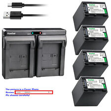 Kastar Battery Dual Charger for Sony NP-FV100 & Sony DCR-SX15 DCR-SX20 DCR-SX21