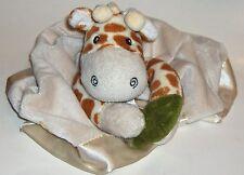 GIRAFFE Security Blanket by Aspen Baby in the Safari line Plush Satin Rattle
