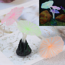 Aquariums accessory&artificial coral reef glowing fish tank lotus leaf luminous