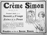 PUBLICITÉ CRÈME SIMON PRODUIT IDÉAL BEAUTÉ DU VISAGE SOINS DE LA PEAU