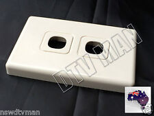 ELECTRICAL/DATA WALL PLATE 2 GANG CUSTOM INSERTS AUS SELLER