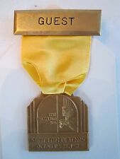 1972 STATE FAIR OF TEXAS - THE DAZZLING 30'S - GUEST MEDAL - TUB BN-6