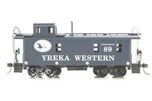 HO Athearn Yreka Western Custom-Printed 36ft Regular Cupola Caboose, OB Knkl Cpl