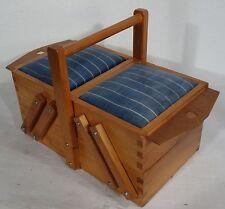 mid century design - Nähkasten Utensilienbox Kirsch Nähkästchen 60er sewing box