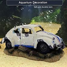 Aquarium Decorations Imitation Wreck Car Resin Ornament Air Stone Bubbler Oxygen