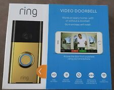 Ring Wi-fi Enabled Video Doorbell Polished Brass (88Rg001Fc100)