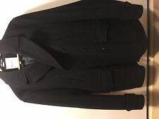 Like new: Lovely Hardy Amies Savile Row classic navy wool pea coat medium