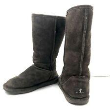 Bear Paw Womens Eva Tall Boots Size 7 M Sheepskin Suede Brown