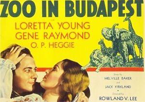 Zoo In Budapest - 1933 - Loretta Young Gene Raymond Vintage Pre-Code Film DVD