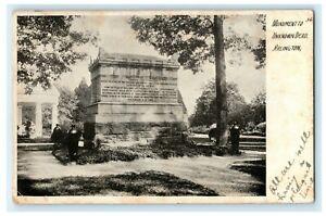 1907 Monument to Unknown Dead Arlington Virginia VA Posted Antique Postcard
