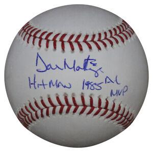 Don Mattingly Signed New York Yankees OML Baseball Hitman & MVP BAS 33678
