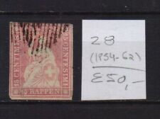 ! Switzerland  1854-1862.   Stamp. YT#28. €50.00!