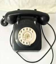 Teléfono Antiguo Rueda Retro de Baquelita Negro año 1965 AEP de Portugal Vintage