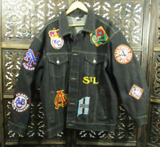Negro Leagues Baseball Museum XL Dark Blue Denim Jacket W Patches