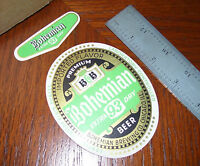 Bohemian 93 Extra Dry Beer~Bohemian Brewing~Chicago Illinois~Beer Bottle Label