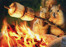 Squirrels Toasting Marshmallow Funny Anniversary Card by Avanti Press