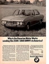 1969 BMW 2800  ~  CLASSIC ORIGINAL PRINT AD