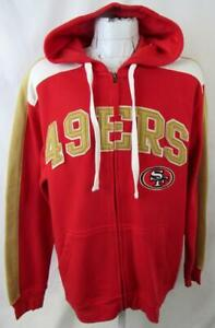 San Fracisco 49ers Mens L or 2XL Full Zip Embroidered Hooded Sweatshirt ASNF 227