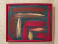 Acryl Bild Rot mit Rahmen Leinwand 53 x 43 cm Modern