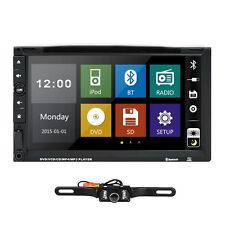 "Camera+Double 2 Din 7"" In Dash Stereo Car DVD Player Bluetooth Radio iPod SD"