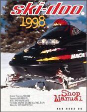 1998 Ski-Doo Grand Touring Summit MX Z Scandic Formula Service Manual on a CD