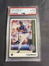 1989 Upper Deck Greg Maddux PSA 10