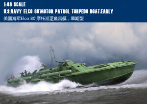 U.S.NAVY ELCO 80 MOTOR PATROL TORPEDO BOAT EARLY 1/48 ship Trumpeter model kit