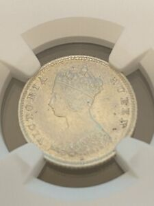 1876H Hong Kong 10 Cents Silver Coin PCGS MS61