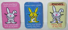 It's Happy Bunny Breath Mints in Humorous Illustrated Metal Tins Set of 3 SEALED