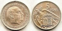 España-Estado Español. 5 Pesetas 1957*62 Madrid. SC/UNC. Niquel 5,7 g.