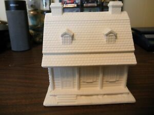 "READY TO PAINT CERAMIC 6.5"" TALL 2 STORY HOUSE BUILDING  BYRON MOLDS 1987"