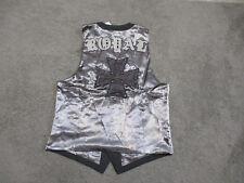 NEW Roar Signature Vest Adult Medium Brown Black Club Wear Button Up Mens V115