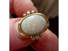 14 Carat Yellow Gold Opal Ring Art Deco Fine Jewellery