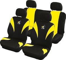 NEUF voiture intérieur jaune & Noir abeille Housses de siège auto