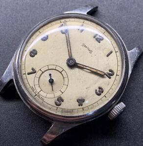 1940s Full Steel Smiths Denisteel Case Silver Movement