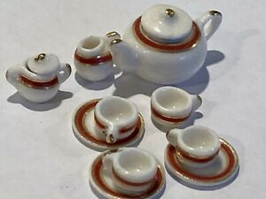 1:12 Scale Ceramic Tea Set For Dolls House