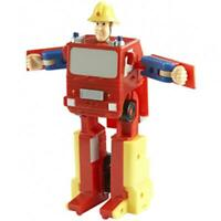 Fireman Sam Convertible Fire Engine Action Figure Transformer Toy Play Set Gift