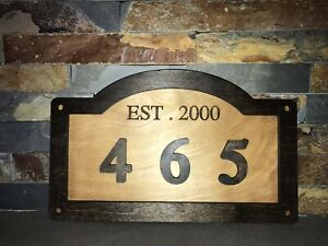 Personalized Address Plaques And More 16x9 Large Size