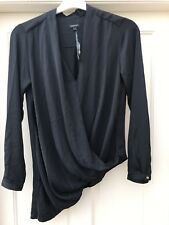River Island Black Blouse Size 10 New With Tags