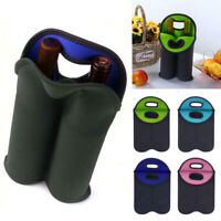 Wine Bottle Holder Double Neoprene Beer Can Cooler Protective Bags Carrier Rack