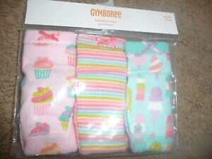 NEW NWT Gymboree girls size 3-4T 3 pack pretty cupcake/ice cream underwear 2021
