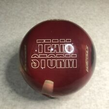 New listing Team Storm Bowling Ball Clear Red 14.5 Lbs Vtg 15