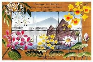 👉 MICRONESIA 1997 HONG KONG returns to CHINA M/S MNH FLOWERS, ORCHIDS, SHIPS