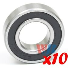 10 x Stainless Steel Radial Ball Bearing S6901-2RS w/ 2 Rubber Seals 12x24x6mm