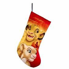 "Lion King Simba Nala Mufasa Christmas Stocking Disney Large 19"" Red Kurt Adler"