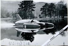 Water Speed Record: Donald Campbell in his Bluebird K7 Under Power on Coniston