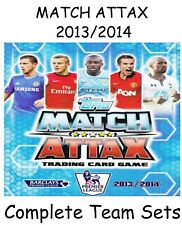 Match Attax 2013/14 Full Team Base Sets of 18 cards Topps 2013/2014 13/14