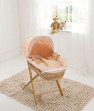 Apricot Waffle Palm Moses  Basket & Folding Stand