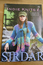 Sirdar PATTERN BOOK nº 406-Indie Knits - 14 Effetto Drammatico Colore Knits