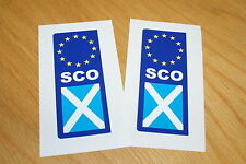 Scotland Euro Number Plate Stickers (pair)